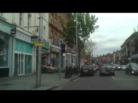 Driving in London - Ealing Broadway to Holland Park