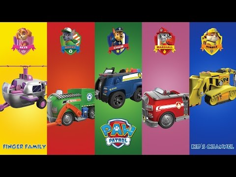 PAW PATROL TRUCK VERSION - Finger Family - Daddy Finger - Nursery Rhyme with Lyrics - Karaoke