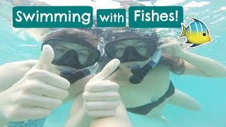 Swimming with fishes in Hawaii!!