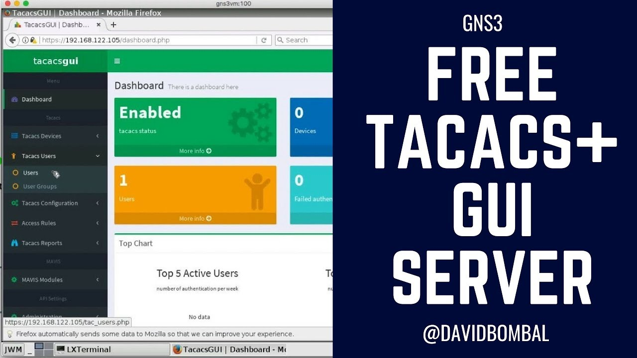 Free TACACS GUI Server: Easy way to add AAA servers to your GNS3 labs!  (Part 1)