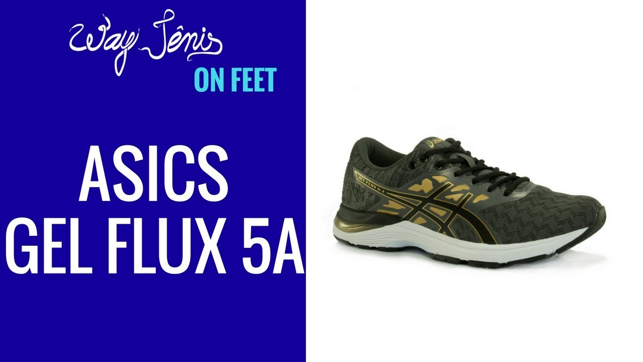 9ffdedd630 TÊNIS ASICS GEL FLUX 5 A - MASCULINO - YouTube