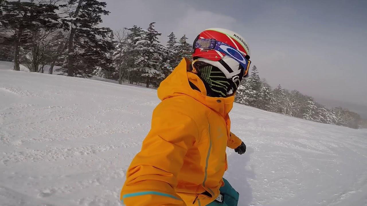 安比高原5.5公里綠線Snowboard - YouTube