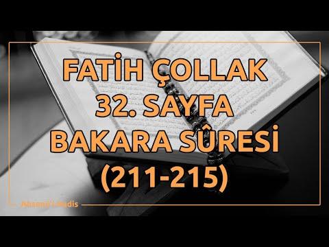 Fatih Çollak - 32.Sayfa - Bakara Suresi (211-215)