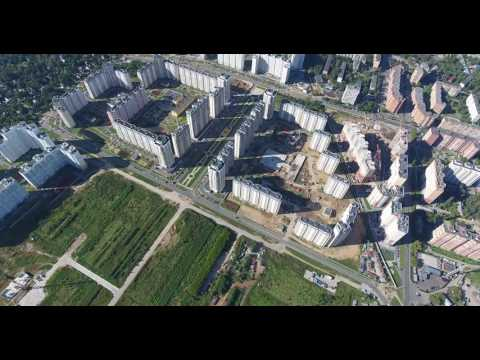 Balashikha City. Zheleznodorozhny District. Bird's-eye.