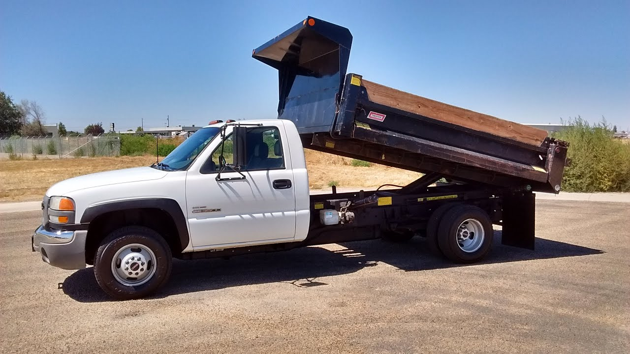 Gmc 3500 dump truck for sale