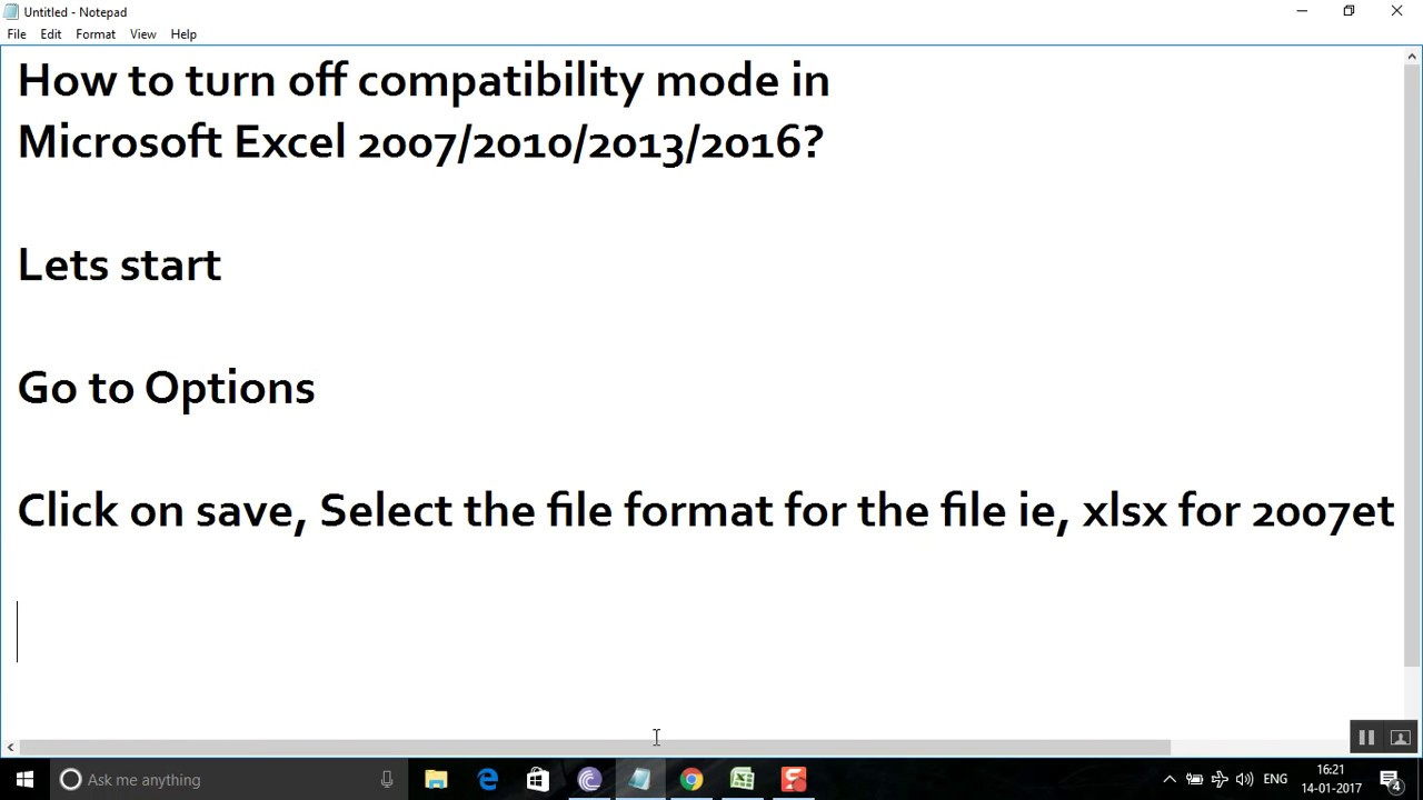 change from read only to compatibility mode