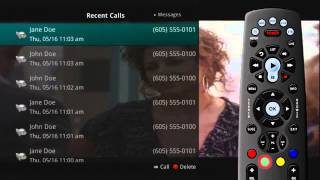 Phone Menu - Recent Calls List