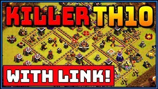 *KILLER* TH10 WAR BASE 2019! *WITH LINK* BEST TOWN HALL 10 | CLASH OF CLANS  | ANTI 3 STAR