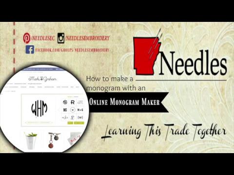 how to create monogram