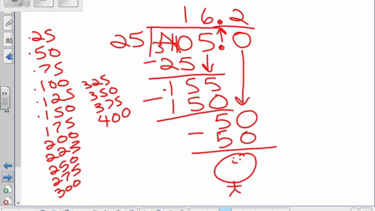 Section5 7 Dividing Decimals without a remainder - YouTube