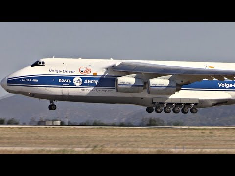 Antonov 124 Landing & Taxi-by at Athens | CLOSE APRON VIEWS! | LGAV Airport Airside Plane Spotting