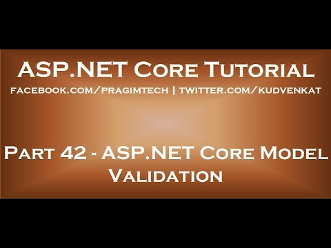 ASP NET Core Model Validation