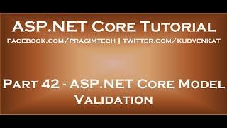 ASP NET Core model validation