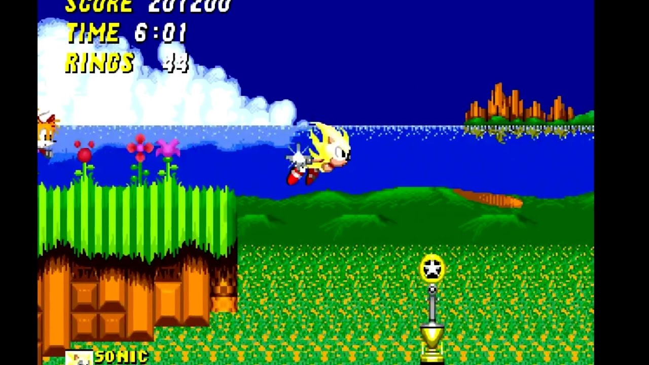 Sonic The Hedgehog 2 1992 Super Sonic In First Zone No Cheats 720p 60fps No Commentary Youtube