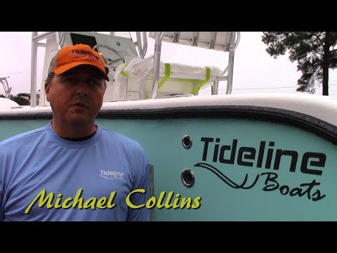 Tideline Boats Factory Tour  Jim Baugh Outdoors 365 Offshore and 235 Catamaran Edenton NC