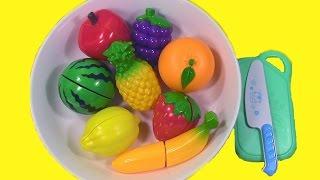 Velcro Fruit Toy Cutting Fruit Salad With Plastic Cooking Playset