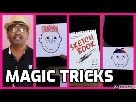 MAGIC TRICKS VIDEOS IN TAMIL #616 I SKETCH BOOK PREDICTION @Magic Vijay
