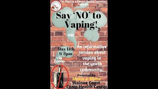 MayWeek2021 x Physical&Mental Health: Say No To Vaping Discussion