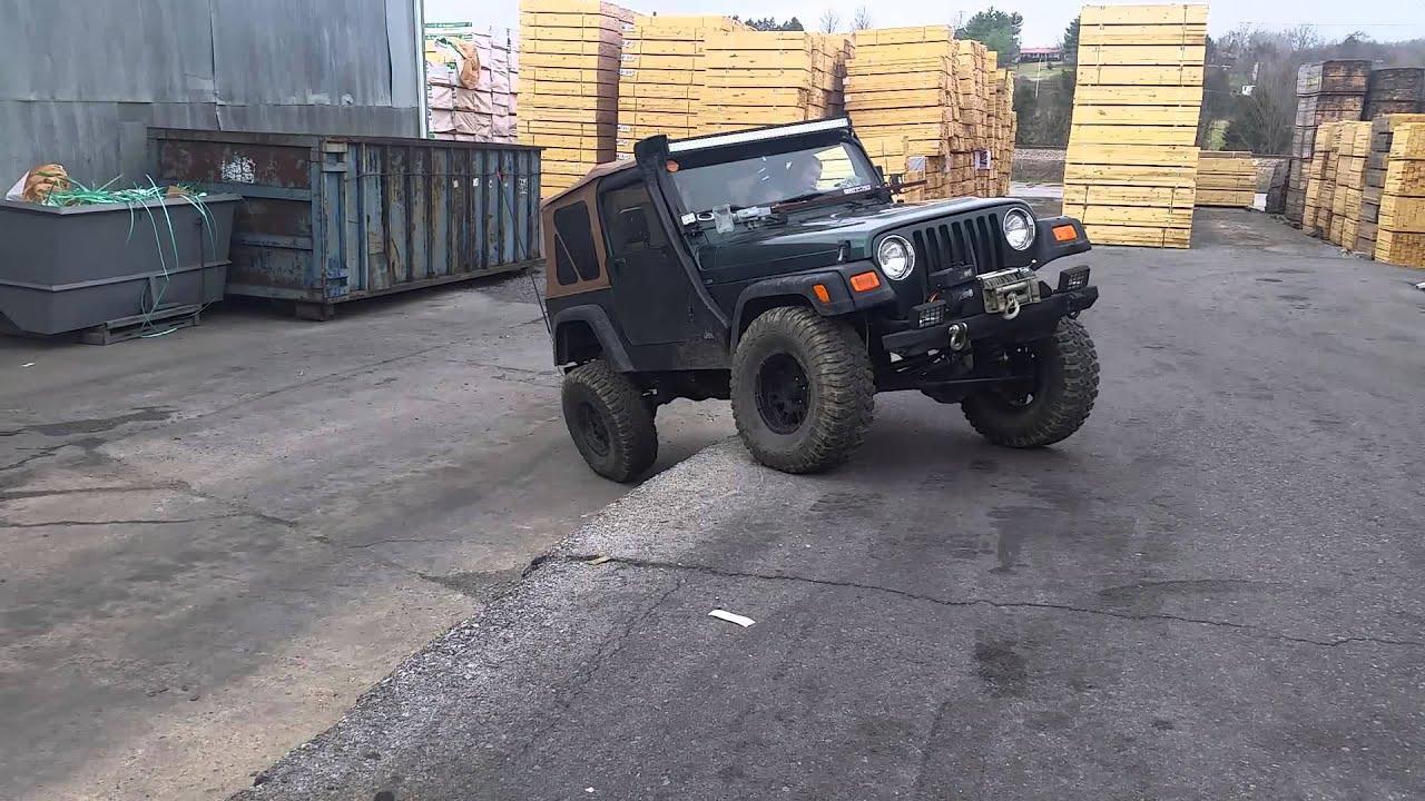Jeep tj climbing and flex skyjacker 4in lift