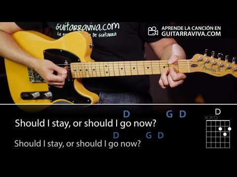 Should I Stay Or Should I Go - Guitar chords and lesson (How To play)