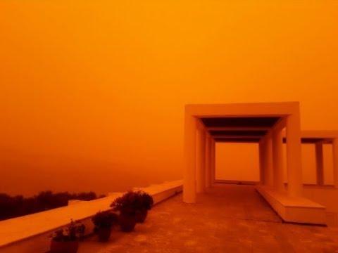 Saharan Dust Cloaks Crete Skies, Record Snow Algeria, Cyclone France (559)