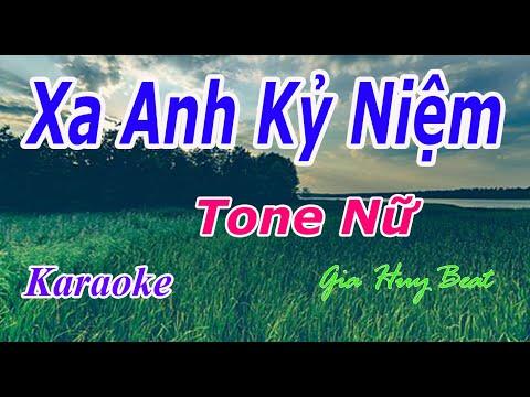 Xa Em Kỷ Niệm - Karaoke - Tone Nữ - Nhạc Sống - gia huy beat