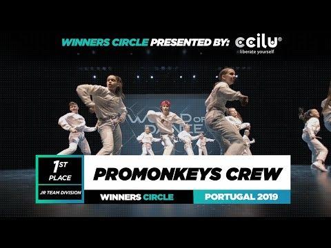PROMONKEYS CREW |1st Place Jr Team| Winners Circle|World Of Dance Portugal Qualifier 2019| #WODPOR19