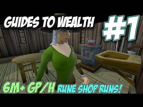Guides to Wealth | Episode 1 [RUNE SHOP RUNS!] Runescape 3 Money Making Guides