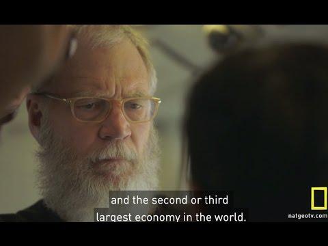 David Letterman Rides Delhi Metro - Solar powered train station