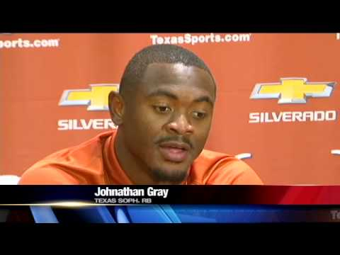 LONGHORN JOHNATHAN GRAY OUT FOR THE YEAR