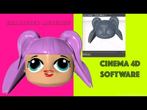 Cinema 4D R20 Character Animation Software 3D Custom Polygon Graphics Tutorial Model Shape Print thumbnail