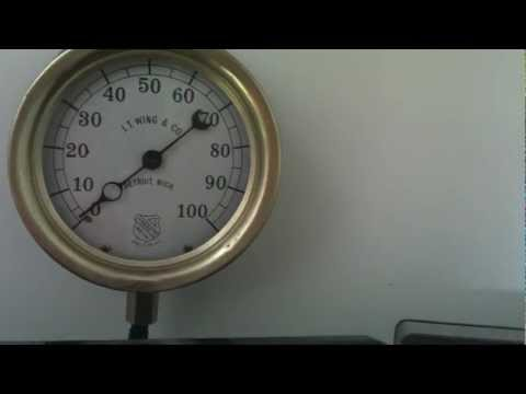 Antique pressure gauge to display internet bandwidth
