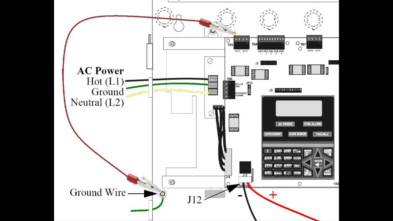 ground fault firelite youtube MS-9050UD Fire Control Panel at Ms 9050ud Wiring Diagram