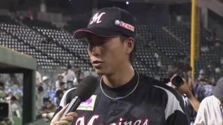 マリーンズ・三木選手のヒーローインタビュー動画。 2017/06/23 オリッ...