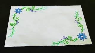 Border designs on paper   border designs   project work designs   borders for projects
