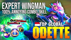 100% ANNOYING ODETTE COMBO SKILL - TOP GLOBAL ODETTE prengki - MOBILE LEGENDS