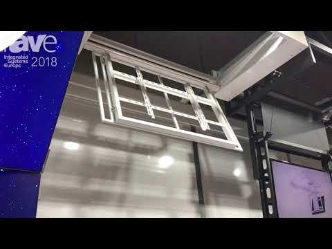 ISE 2018: Unitech Systems Features Slim Ceiling Lift for Flat Panel Displays