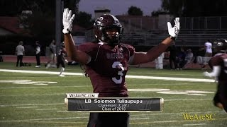 Solomon Tuliaupupu highlights vs. Diamond Bar - 10/28/16