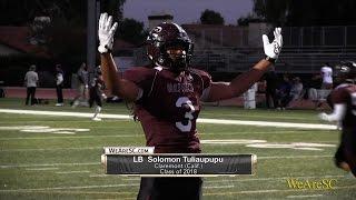 Solomon Tuliaupupu highlights vs. Diamond Bar - 10/28/16