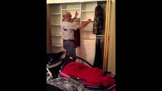 Wide Bedroom Closet With Double Doors