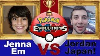 Jenna Em VS JordanJapanNintendoFan✪! Pokemon XY Evolutions Battle!