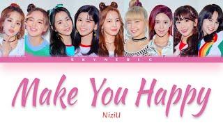 Niziu - Make You Happy Color Coded Lyrics Video 歌詞 |jap|rom|eng|