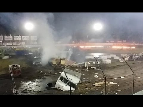 Track Catches Fire at Lake County Speedway's 2016 Crash-O-Rama