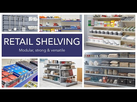 Retail Shelving Wall And Gondola Units