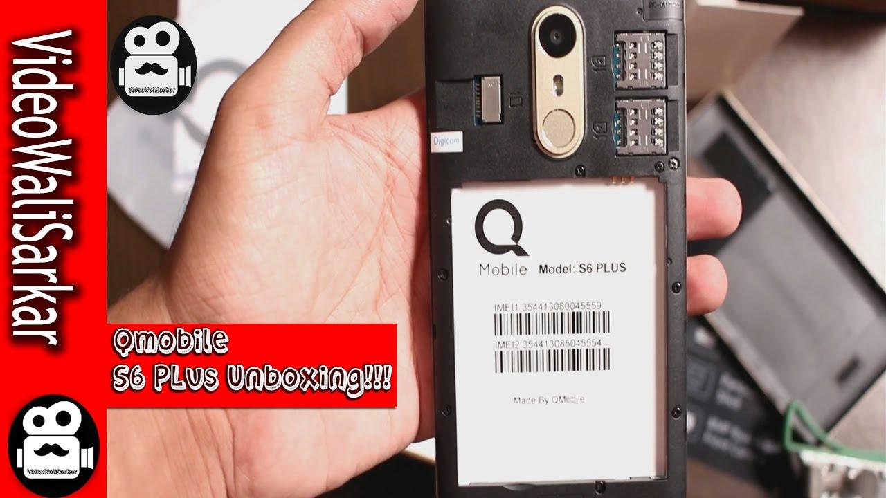 cheaper 67604 63946 Qmobile Noir S6 Plus | Unboxing