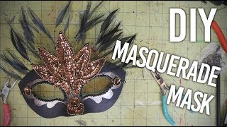 How to Make a Masquerade Mask for Mardi Gras - With a slight alteration for glasses wearers! : DIY