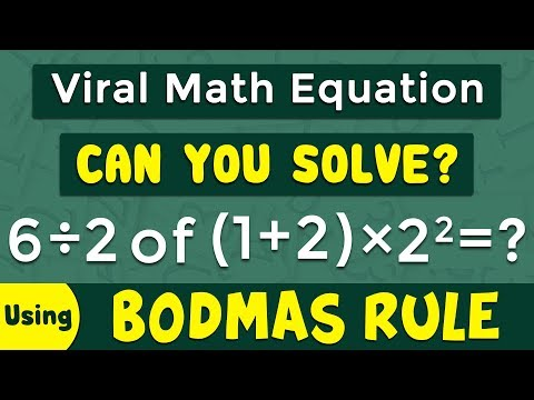 Can You Solve This Viral Math Equation By Using Bodmas Rule | Competitive Exams | Math Tricks