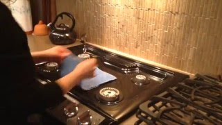 Clean your stove top with Norwex chemical-free cleaning products