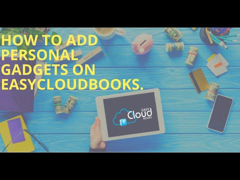 How to add Personal Gadgets on easycloudbooks?