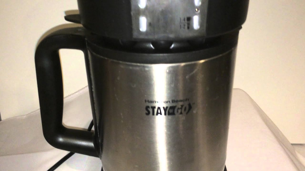 Hamilton Beach STAY OR GO Coffeemaker